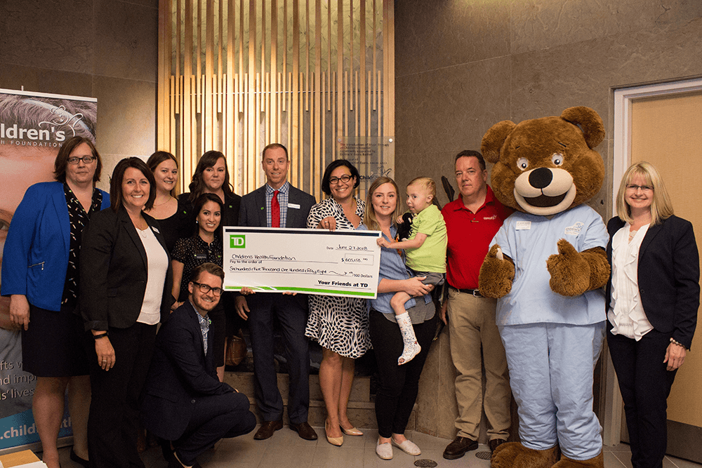 Team presentation of TD cheque to Children's Health Foundation