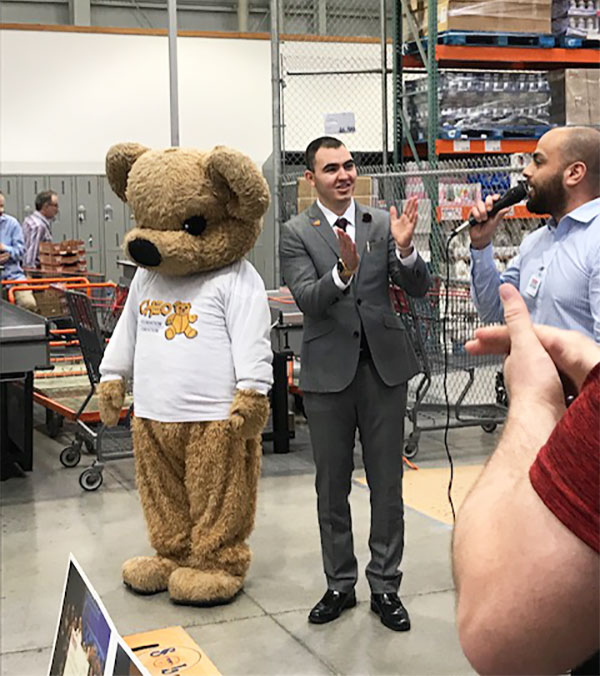 CHEO bear at Costco presentation