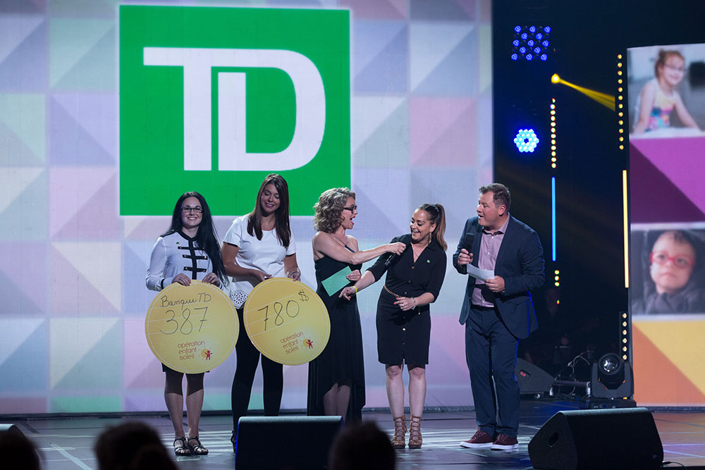 TD awards presentation on big stage