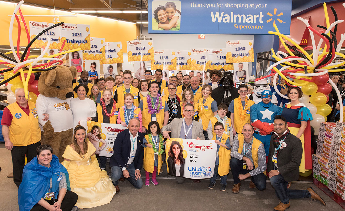 Walmart celebration with CHEO
