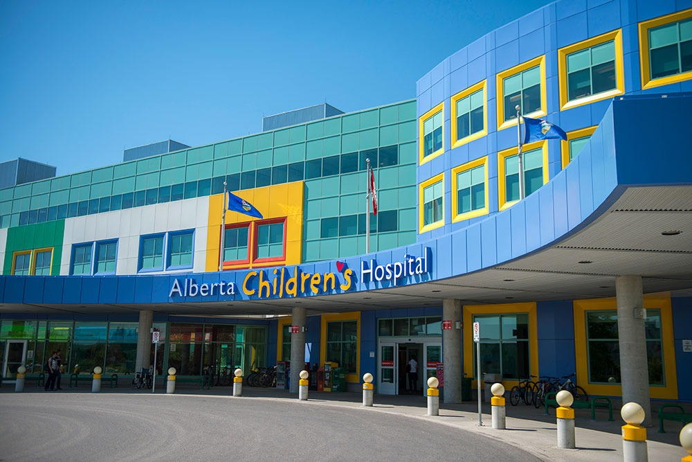 Front entrance to Alberta Children's Hospital
