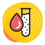 Icon - Blood Droplet and Test Tube
