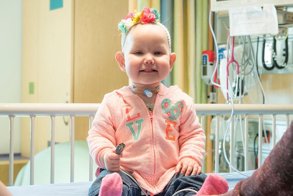 Enfant with tracheostomy