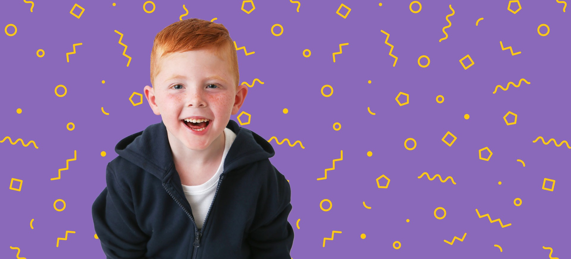 Champion Ryland on purple background