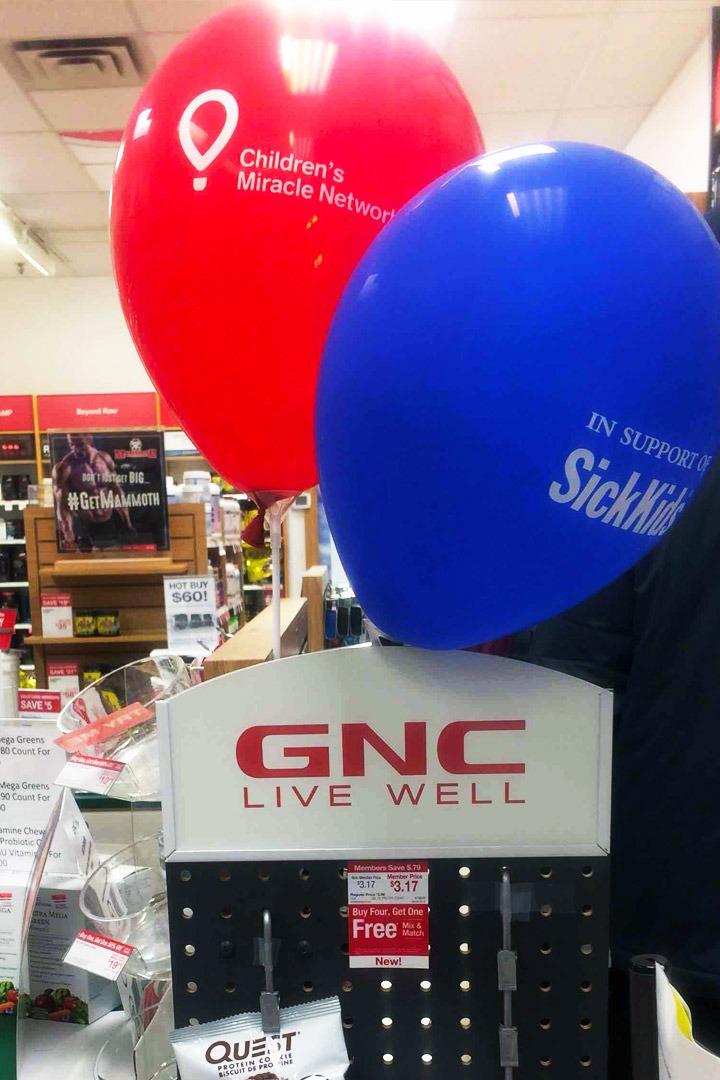 GNC SickKids CMN Balloons