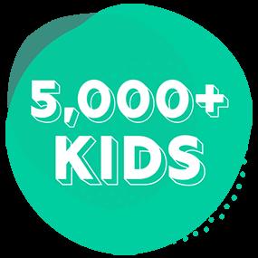 5000+ kids helped