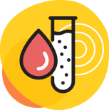 Icon of test tube and blood drop