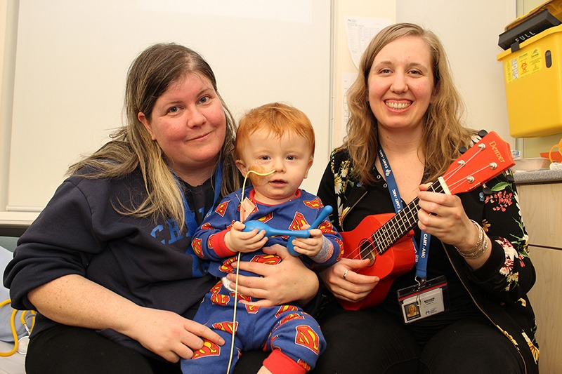 Music Therapy with Bonnie Brittain and patient Joseph Hillman
