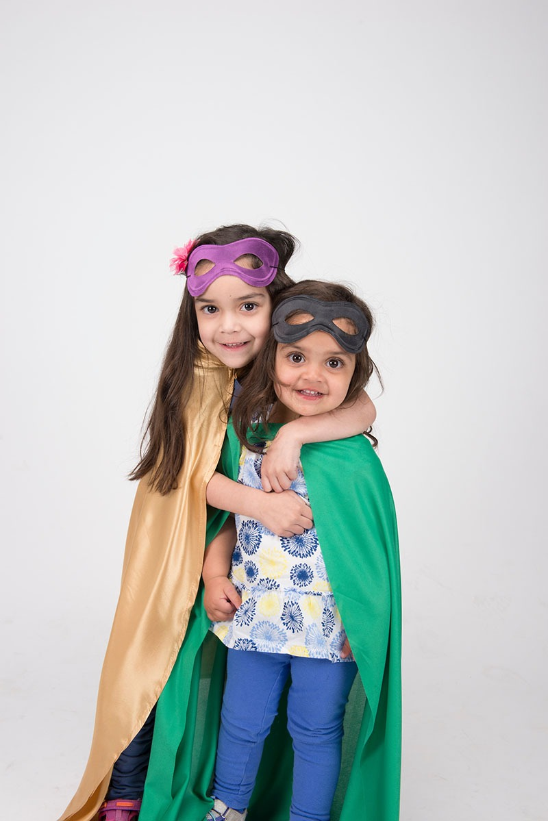 2 kids in costume